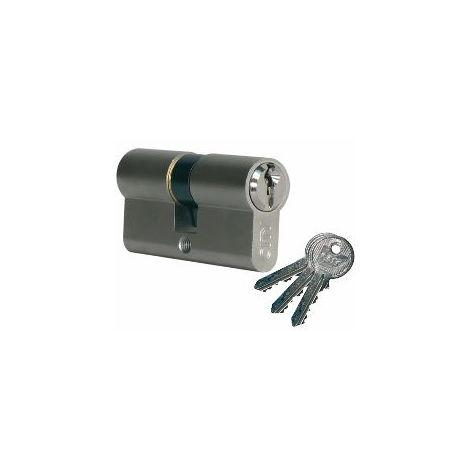 Cylindre City ISEO 30x60mm laiton nickelé - varié V04 KCF005504 - 520930629V04
