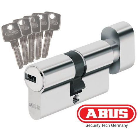 Cylindre de Haute Sécurité ABUS D6 à 35boutonx45 - Alu