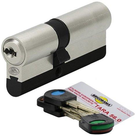 Cylindre de porte 30 x 40 mm 5 clés debrayables Carte de reproduction Barillet anti casse