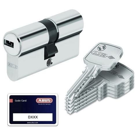 ABUS security bravus.2000 cylindre de fermeture double cylindre livr/é avec 4 cl/és longueur 30//30 mm avec carte de s/écurit/é et reproduction