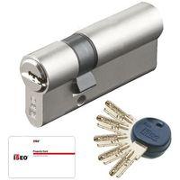 Bricorama Cylindre de porte 40 x 40 mm debrayable avec 4 cl/és et carte de reproduction Barillet double entr/ée