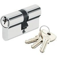 Cylindre de securite pour porte barillet 30x30 mm Alpha Bricard 3 cles