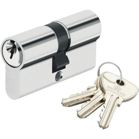Cylindre de sécurité pour porte barillet 40 x 30 mm Alpha Bricard 3 clés