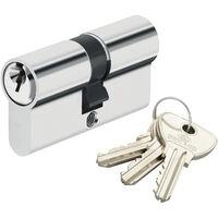 Cylindre de securite pour porte barillet 40x30 mm Alpha Bricard 3 cles