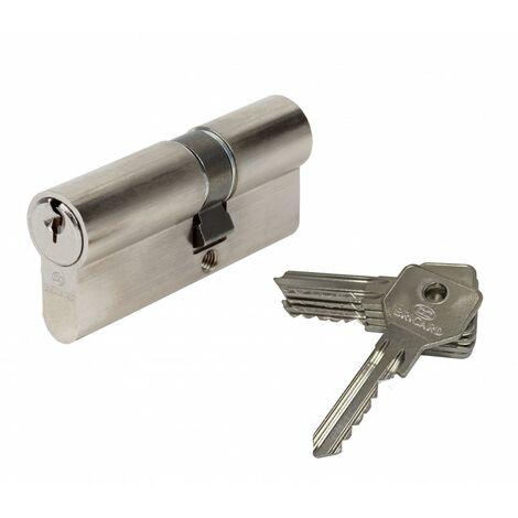 Cylindre de serrure BRICARD alpha débrayable L.30 + 40 mm