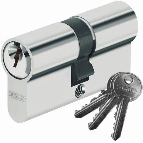 Cylindre de serrure de porte double entrée ABUS 30 x 30 mm avec 3 clés S paracentriques