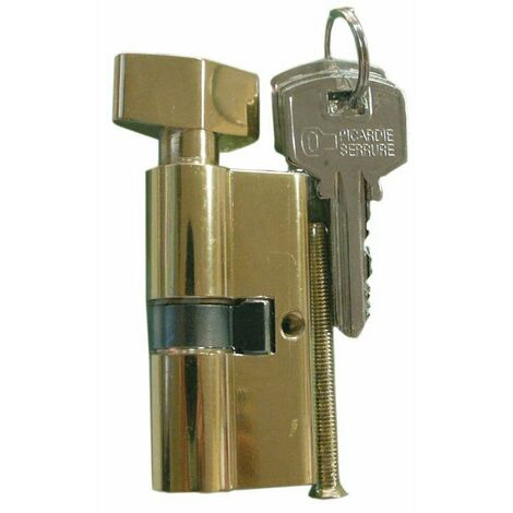 Cylindre de sureté double à bouton 30 x 30