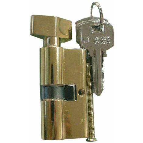 """main image of """"Cylindre de sureté double à bouton Carmine - Dimensions 30 x 30 mm"""""""