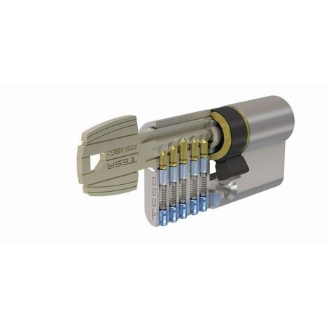 Cylindre de sûreté nickelé T5C TESA 100mm 50x50 - MV3 variure 78565B - 50305050NKA