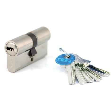 Cylindre de sûreté TESA T60 débrayable - Nickelé - 30 x 30 - MV 3 - 3 clés - T65D3030NKA