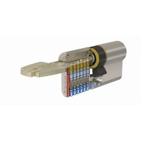 Cylindre de sûreté TESA T60 débrayable - Nickelé - 30 x 30 - Varié - 5 clés - T65D3030N