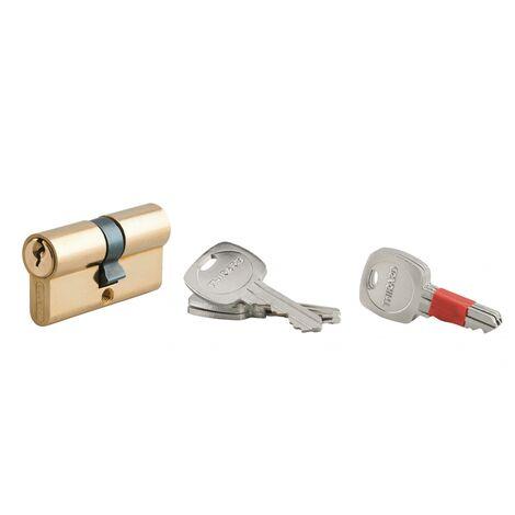 60 mm Poignée Serrure à Cylindre Poignée Cylindre Cylindre De Verrouillage Avec 5 Clés 30//30