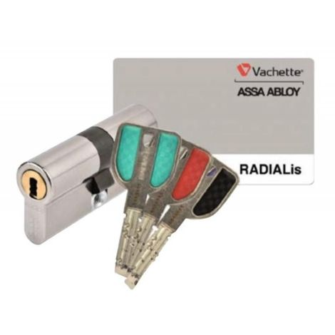 Cylindre double breveté type RADIALIS à clé protégée varié 3 clés 32,5 X 52,5