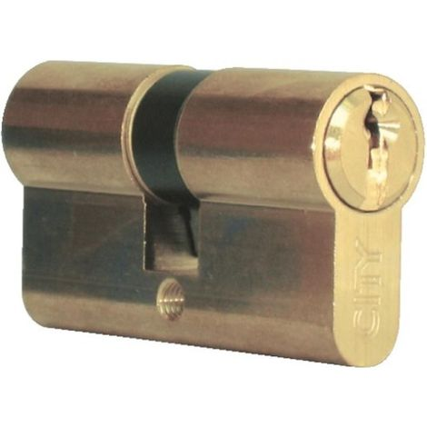 Cylindre double de sûreté 30 x 40 en laiton poli - Profil européen s entrouvrant sur numéro - Série City 5G