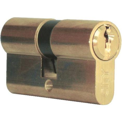 Cylindre double de sûreté 30 x 50 en laiton poli - Profil européen s entrouvrant sur numéro - Série City 5G