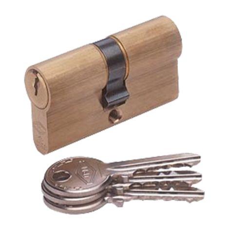 Cylindre double entrée JPM Cisa - 30x40mm - 3 clés - 831012-01-0A