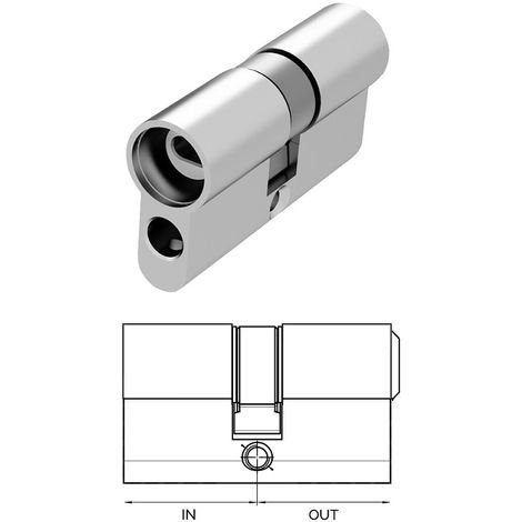 Cylindre européen 30 x 30 MERONI pour serrure connectée Gear-R - HG30B30NRSKD005I