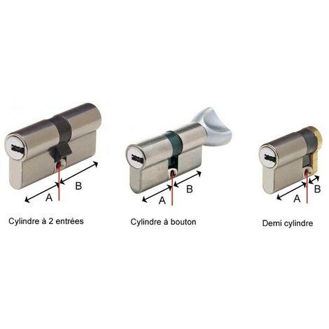 Cylindre européen à bouton CITY ISEO Finition: Laiton