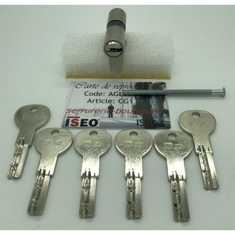"main image of ""Cylindre européen CITY ISEO ISR6 avec 6 clés."""