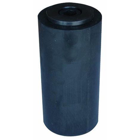 Cylindre ponceur en caoutchouc Leman Ø 80 hauteur 120 alésage 50