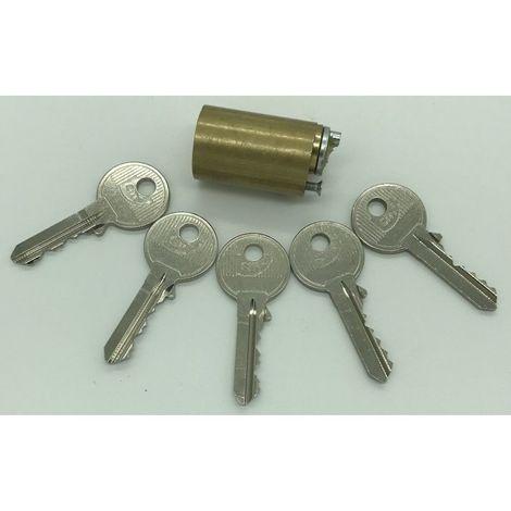 Cylindre pour verrou à bouton CITY avec 5 clés
