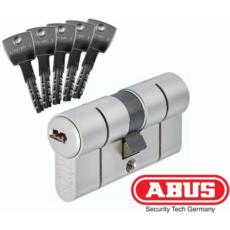 Cylindre serrure Abus D10PS Haute protection 45x45 - Alu