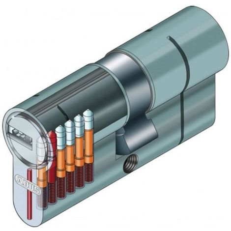 Cylindre serrure Abus D66 40x10 demi cylindre - Alu