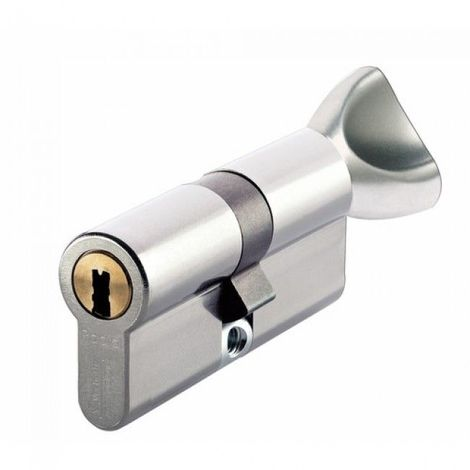 Cylindre serrure Vachette RADIALis 42,5 bouton x 37,5 - Alu