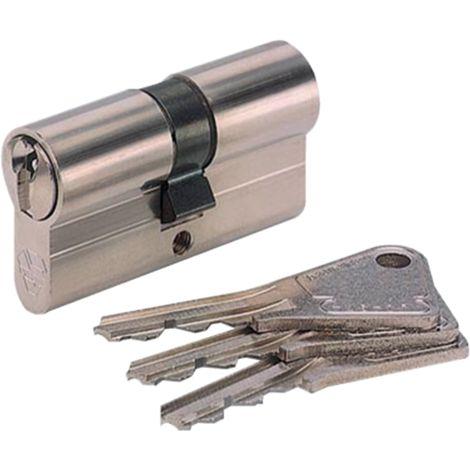 Cylindre symétrique V5 nickelé (3 clés) VACHETTE - plusieurs modèles disponibles