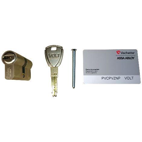 Cylindre Volt 3111 à bouton VACHETTE avec carte de propriété + 3 clés - 40x40mm - réversible - 22197000