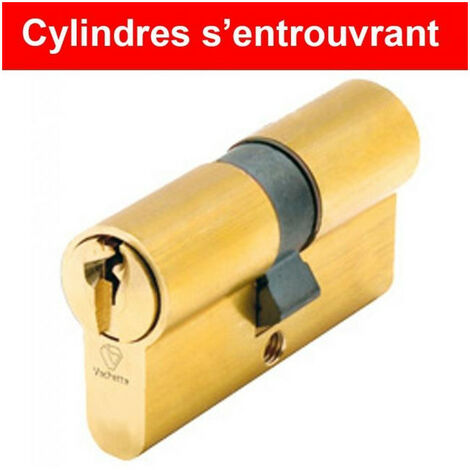 Cylindres utilisant les mêmes clés (s'entrouvrant) 5 goupilles laiton V5 (3 clés) VACHETTE - plusieurs modèles disponibles