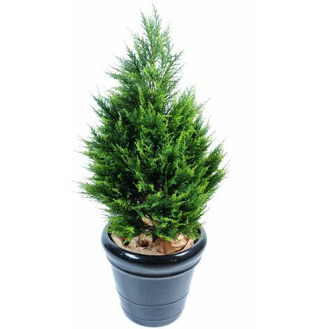 Cypres artificiel Juniperus (105 cm) Haut de Gamme Cypres Intérieur / Extérieur Arbres artificiels - VERT