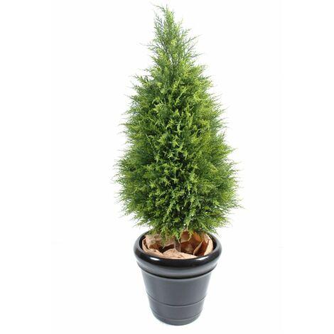 Cypres artificiel Juniperus (135 cm) Haut de Gamme Cypres Intérieur / Extérieur Arbres artificiels - VERT