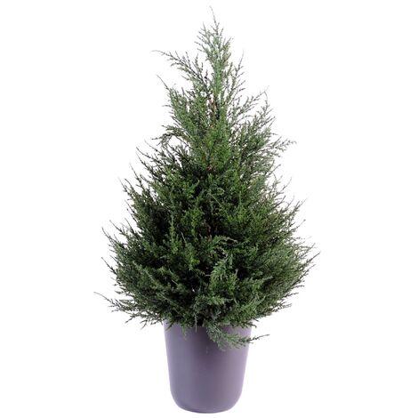 Cypres artificiel Juniperus (65 cm) Haut de Gamme Cypres Intérieur / Extérieur Arbres artificiels - VERT