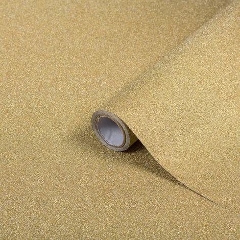 "main image of ""D-C-Fix Deco Classic Glitter Effect Gold Self Adhesive Film 2m x 45cm"""