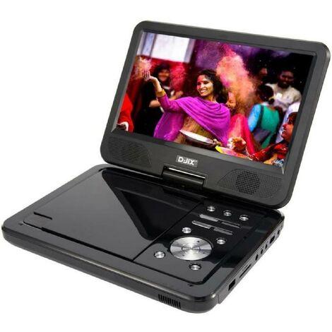 D-JIX PVS1006-20 Lecteur DVD portable 10 rotatif - Noir Djix