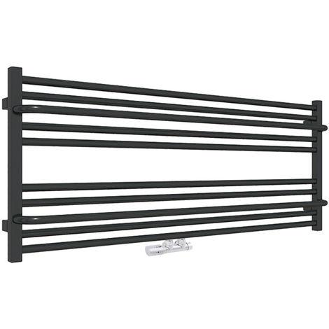 D. Sèche-serviette horizontal - Chauffage Central - Noir Mat - Lima/ZXN