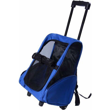 D1-0011 2 en 1 trolley chariot sac à dos sac de transport à roulettes pour chien chat