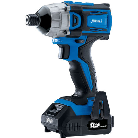 "D20 20V Brushless 1/4"" Impact Driver with 2 x 2.0Ah Batteries and Charger (180Nm)"