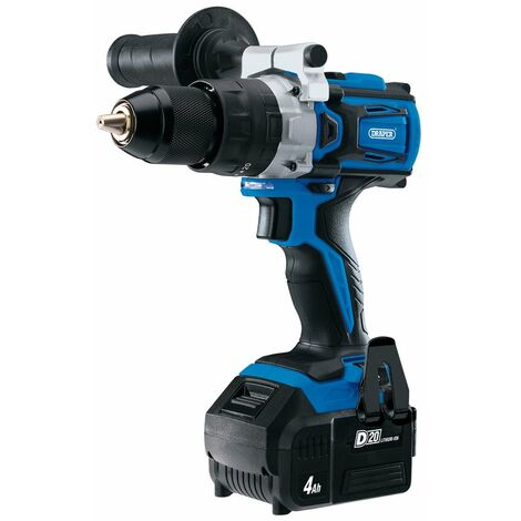 D20 20V Brushless Combi Drill with 4.0Ah Battery and Fast Charger