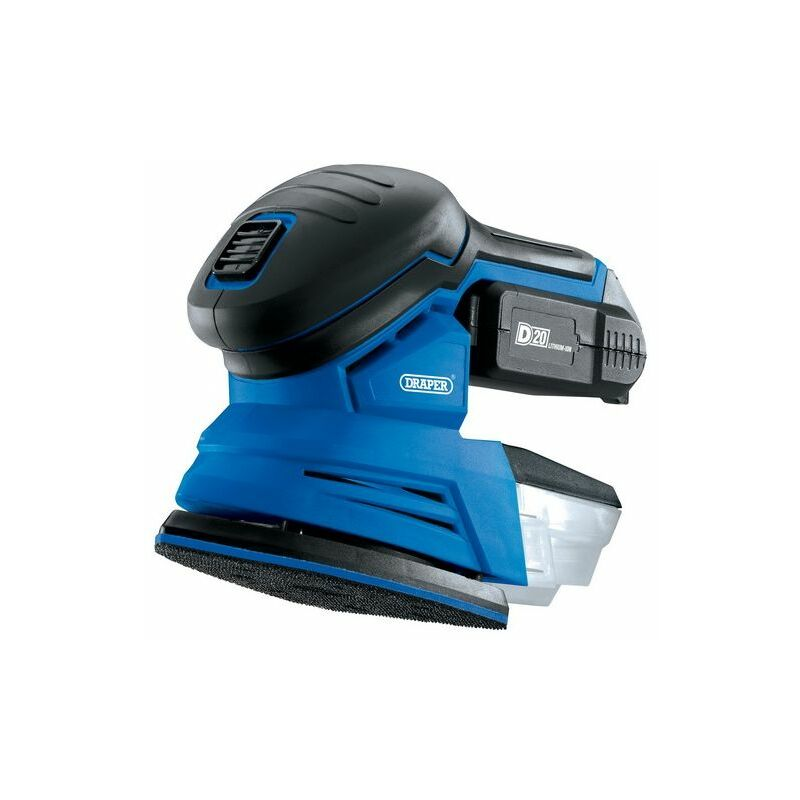 Image of 00608 D20 20V Tri-Base (Detail) Sander with 2Ah Battery and Charger - Draper