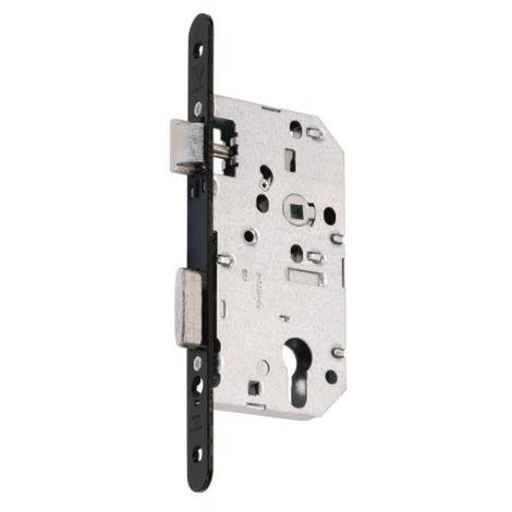 D455 CLE I, têtière acier, axe 50 mm, entraxe 70 mm, bouts ronds noir, carré de 8 mm sans gâche,droite, B10