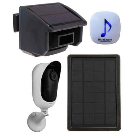 DA600 Wireless Garden & Driveway Alarm & Solar Powered Wi-fi Camera Kit [014-0440]