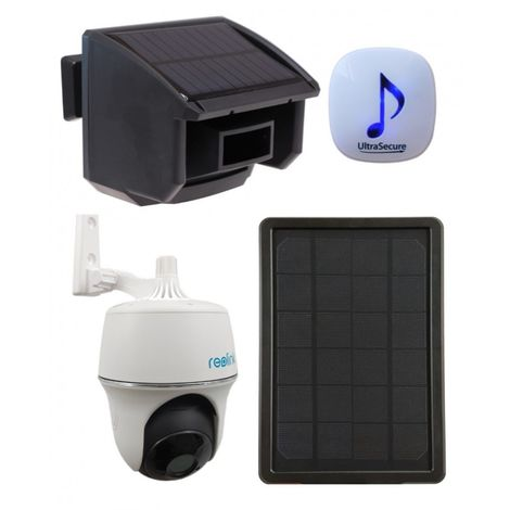 DA600 Wireless Garden & Driveway Alarm & Solar Powered Wi-fi PT Camera Kit [014-0450]