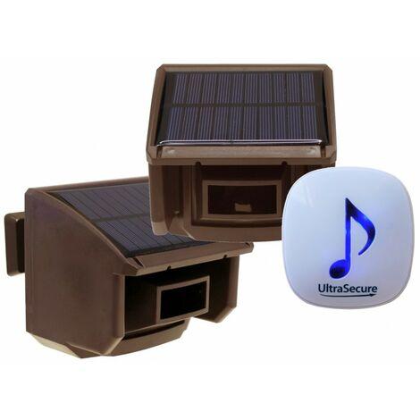 DA600 Wireless Garden & Driveway Alarm with 2 x Brown PIR's [004-4850]