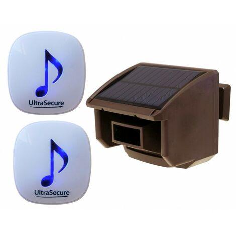 DA600 Wireless Garden & Driveway Alert with 2 x Receivers & 1 x Brown PIR [004-4870]
