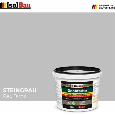 "main image of ""Dach-und Sockelfarbe Dachbeschichtung Dachlack 12 kg Steingrau Polymermembran"""