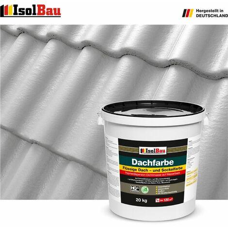 "main image of ""Dach-und Sockelfarbe Dachbeschichtung Dachlack 20 kg Steingrau Polymermembran"""