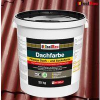 Dach- und Sockelfarbe Dachbeschichtung Dachlack 25kg Ziegelrot Polymermembran HQ