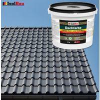 Dach- und Sockelfarbe Dachbeschichtung Dachlack 4 kg Anthrazit Polymermembran